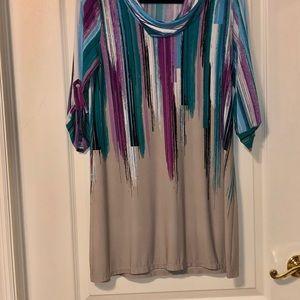 Alfani cowl neck sleeved dress